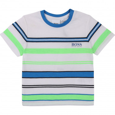 Tri-colour striped T-shirt BOSS for BOY
