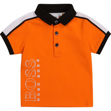 Tricolour polo in cotton piqué BOSS for BOY