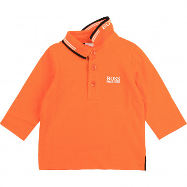 Long-sleeved cotton T-shirt BOSS for BOY