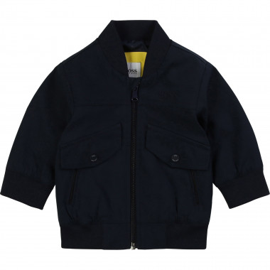 Water-resistant bomber jacket BOSS for BOY