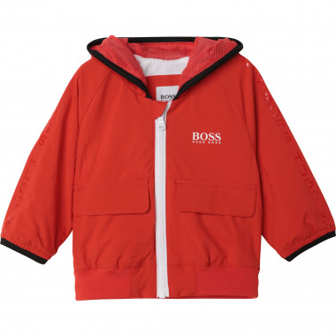 Zip-up hooded jacket BOSS for BOY