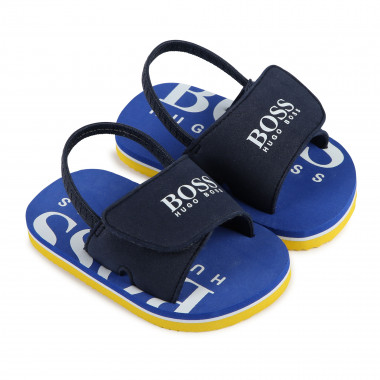 Velcro logo sandals BOSS for BOY