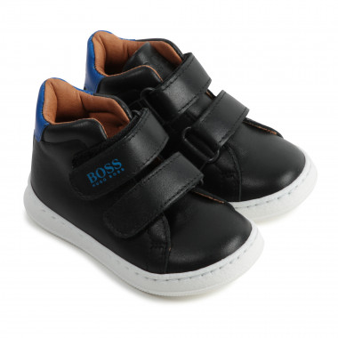 High-top leather trainers BOSS for BOY