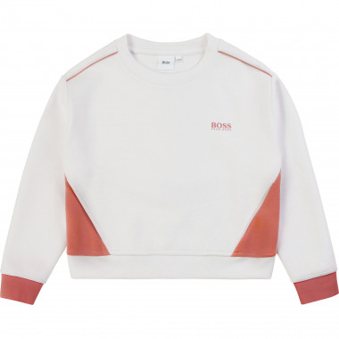 2-tone sweatshirt with pockets BOSS for GIRL