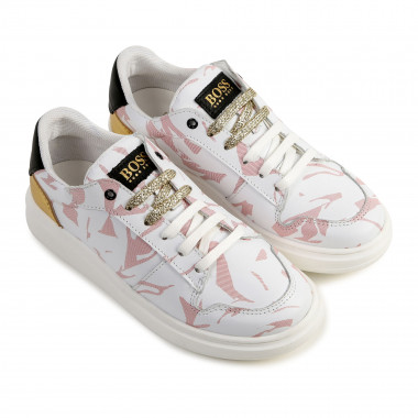 Printed low-top leather trainers BOSS for GIRL