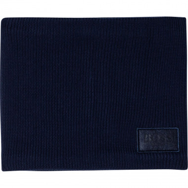 Cotton snood with patch BOSS for BOY