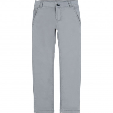 Slim fit cotton serge trousers BOSS for BOY