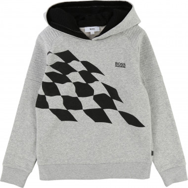 Padded sweatshirt with hood BOSS for BOY