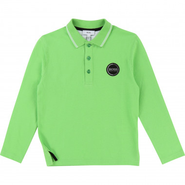 Long-sleeved polo shirt BOSS for BOY