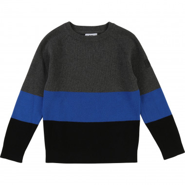 Fancy cotton knit jumper BOSS for BOY