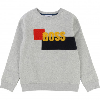 Artwork fleece sweatshirt BOSS for BOY