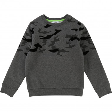 Camo print sweatshirt BOSS for BOY