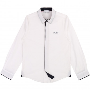 Cotton poplin shirt BOSS for BOY
