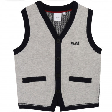 Sleeveless knit cardigan BOSS for BOY