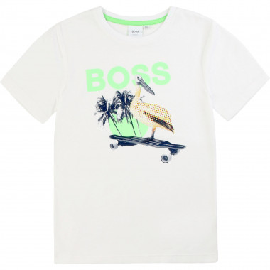 Slim-fit pelican print T-shirt BOSS for BOY