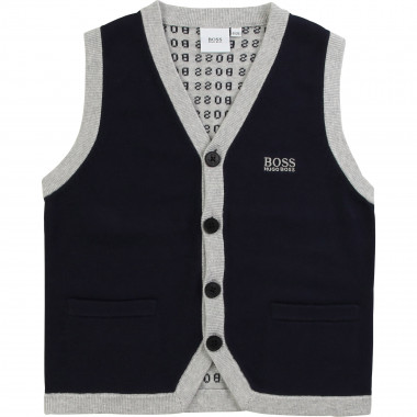 Knitted sleeveless cardigan BOSS for BOY