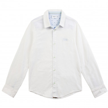 Long-sleeved shirt with logo BOSS for BOY