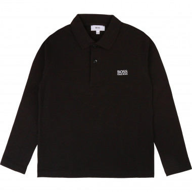 Long-sleeved logo polo BOSS for BOY