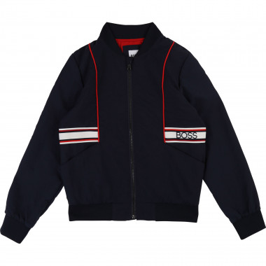 Zipped waterproof jacket BOSS for BOY