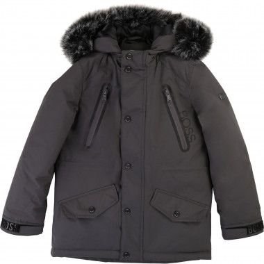 Water-resistant hooded parka BOSS for BOY