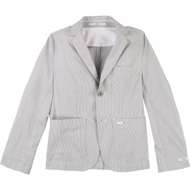 Striped cotton suit jacket BOSS for BOY