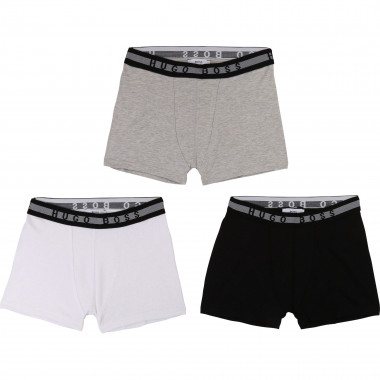 Pack of 3 cotton jersey boxers BOSS for BOY