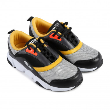Dual-material low-top trainers BOSS for BOY
