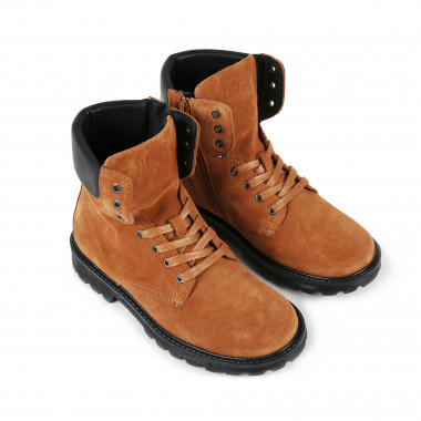Leather lace-up boots BOSS for BOY