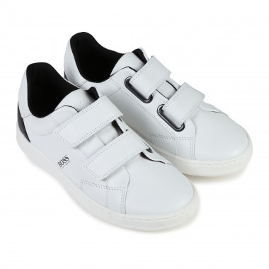 Velcro leather trainers BOSS for BOY