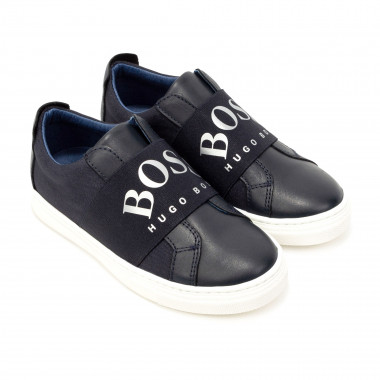 Leather and textile trainers BOSS for BOY