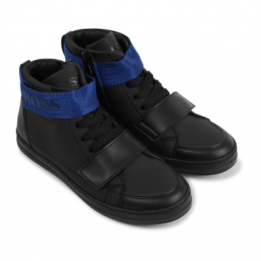 High-top leather trainers  for