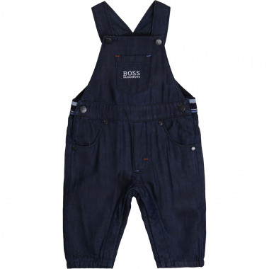 Lyocell and denim dungarees BOSS for BOY