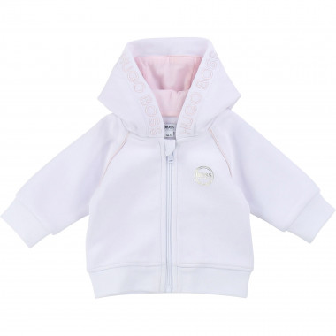 Embroidered jogging cardigan BOSS for GIRL