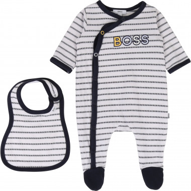 Velour pyjama suit and bib BOSS for BOY