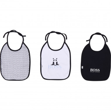 3-pack of lined cotton bibs BOSS for BOY