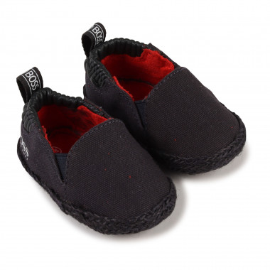 Cotton and leather slippers BOSS for BOY