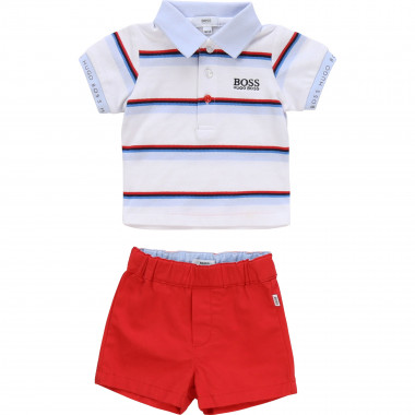 Cotton shorts and polo set BOSS for BOY