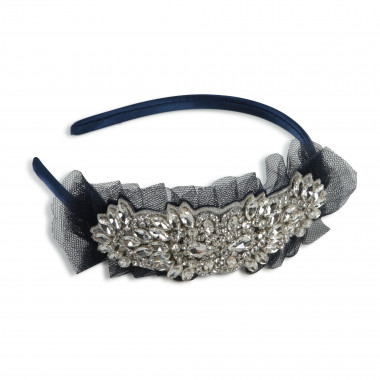 Jewelled and tulle headband CHARABIA for GIRL