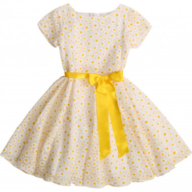 Belted dress with print CHARABIA for GIRL