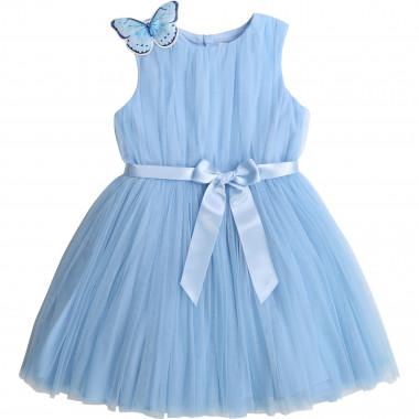 Belted tulle dress CHARABIA for GIRL