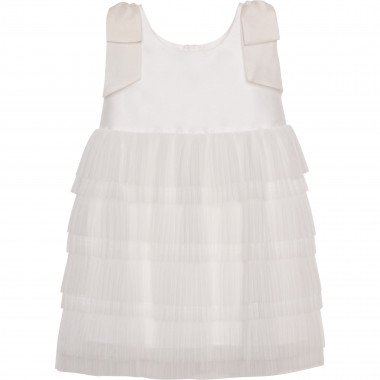 Sleeveless dress with bows CHARABIA for GIRL