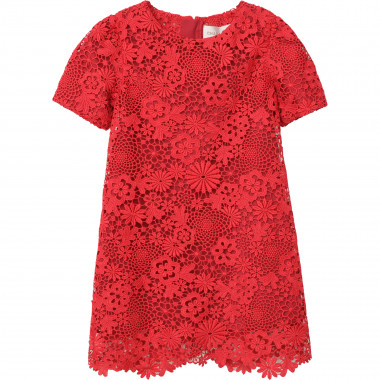 Short-sleeved lace dress CHARABIA for GIRL