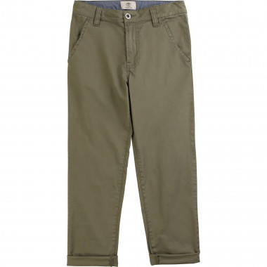 Cotton twill chino trousers TIMBERLAND for BOY