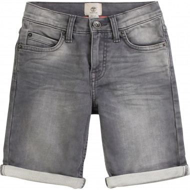Fleece-effect denim Bermudas TIMBERLAND for BOY