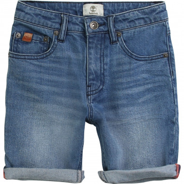 Stretch denim Bermuda shorts TIMBERLAND for BOY
