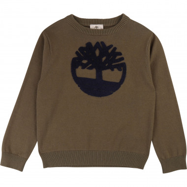 Cotton jumper with logo TIMBERLAND for BOY