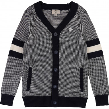 Cotton and wool knit cardigan TIMBERLAND for BOY
