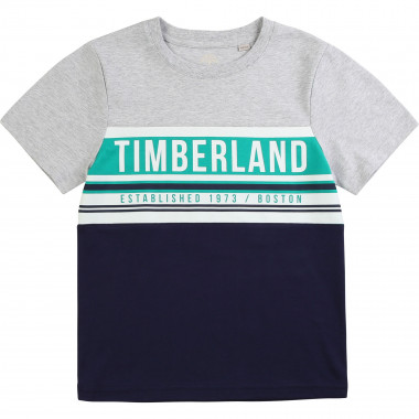 Colour block cotton T-shirt TIMBERLAND for BOY