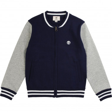 Dual-material cotton cardigan TIMBERLAND for BOY