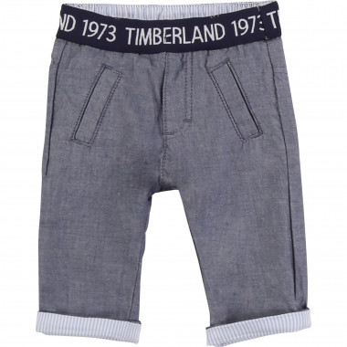 Reversible cotton trousers TIMBERLAND for BOY